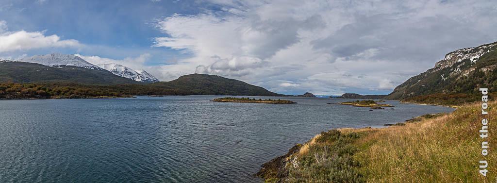 Panoramabild der Bahia Lapataia im Tierra del Fuego Nationalpark