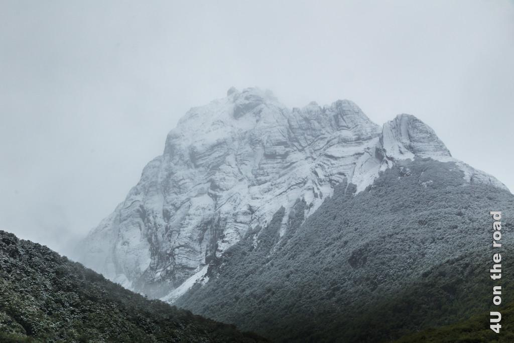 Bild Berg mit Puderzuckerschnee am Rande Ushuaias