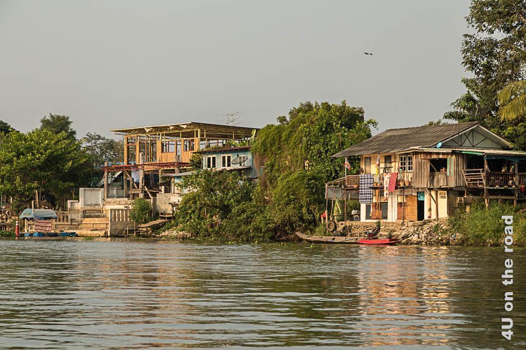 Bild Häuser entlang des Flusses, Ayutthaya