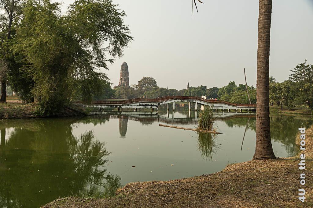 Bild Spiegelung im See – Phra Ram Park, Ayutthaya