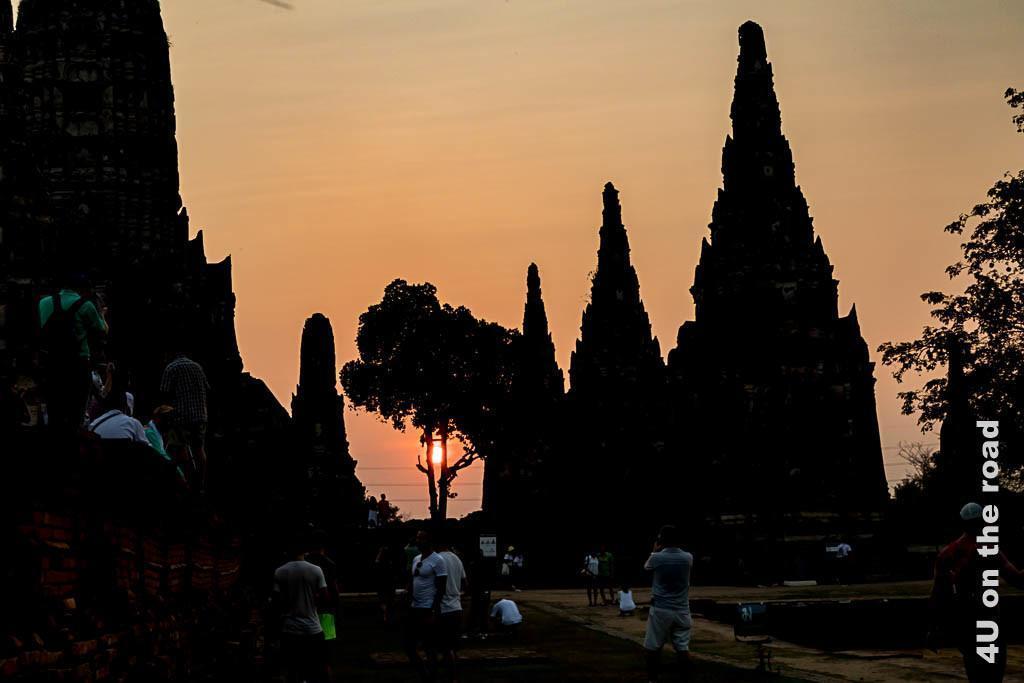 Bild Wat Chai Watthanaram bei Sonnenuntergang - Ayutthaya