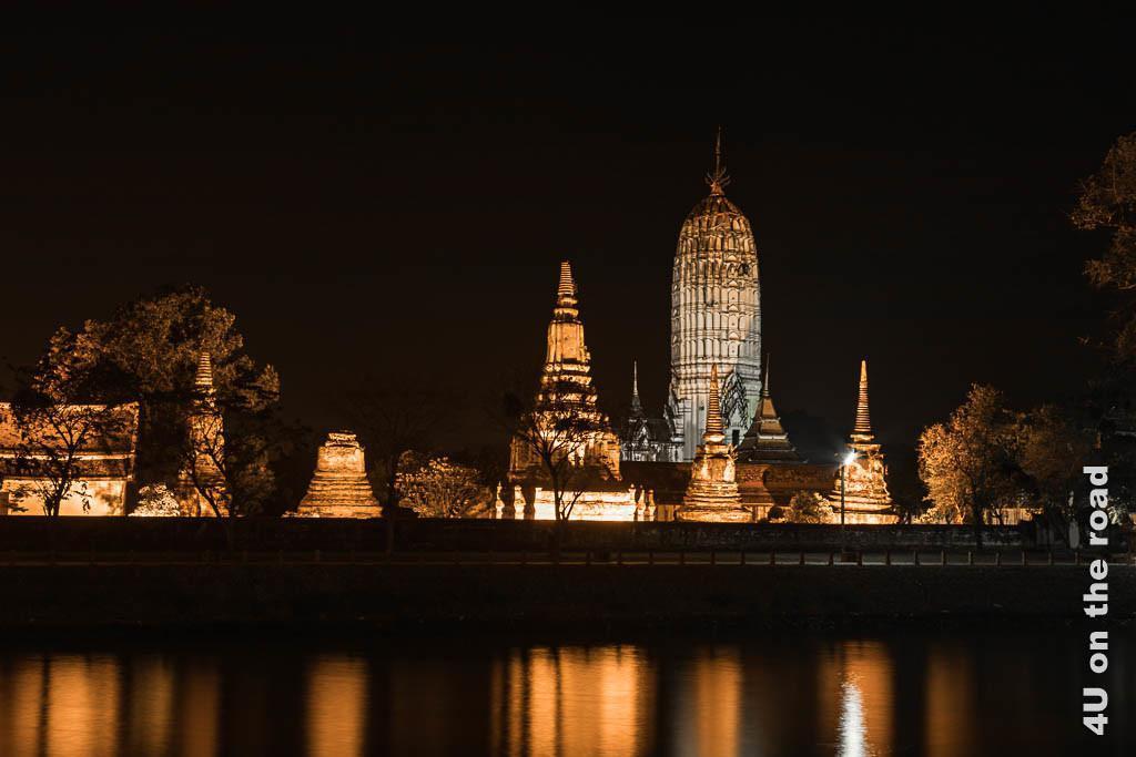 Bild Wat Phutthaisawan beleuchtet, Ayutthaya