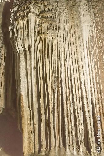 Bild Dies ist ein Stück der Gardine, breiter Tropfstein einer Gardine ähnlich sehend