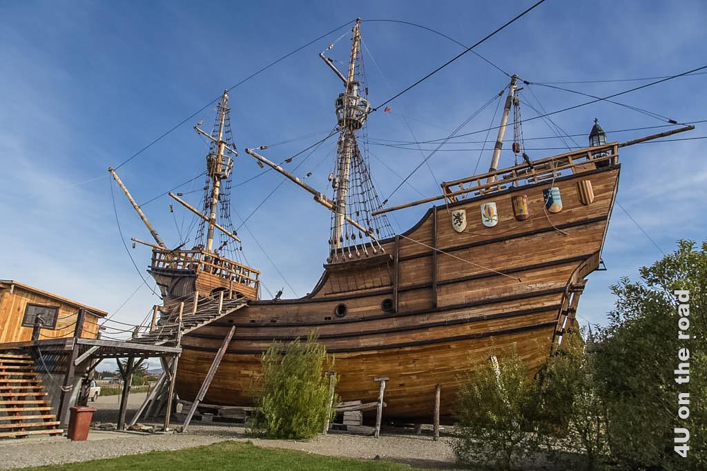 Replik der Victoria, des Schiffs von Ferdinand Magellan, in Punta Arenas
