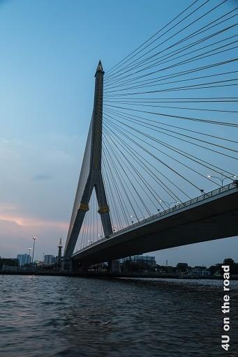 Bild Seilzugbrücke von unten - Bangkok
