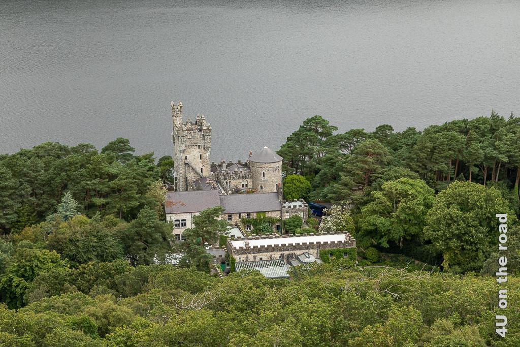 Clenvaegh Castle vom Aussichtspunkt gesehen