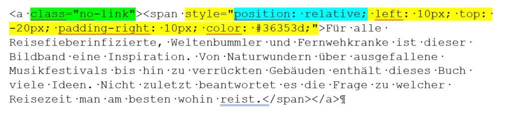 Bild mit umlaufendem Text: Code-Block Text