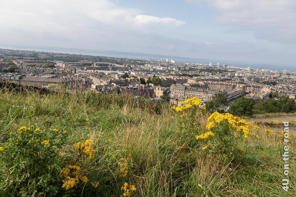 Edinburg, Blick vom Calton Hill auf den Firth of Forth