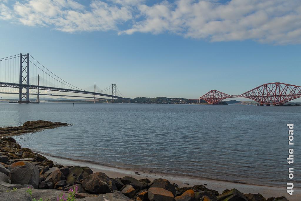 South Queensferry Crossing, South Queensferry Bridge Road, South Queensferry Bridge - alle drei Brücken über den Firth of Forth auf einem Bild