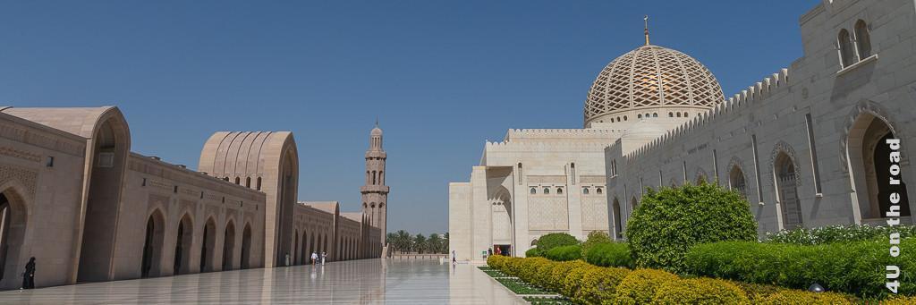 Bild der Grosse Sultan Qaboos Moschee in Muscat zur Illustration der Sultan Quaboos Moschee Besuchstipps