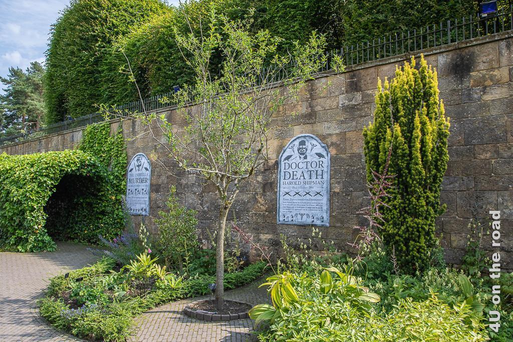 Alnwick Gardens - Poison Garden - Wall of Fame berühmter Giftmörder