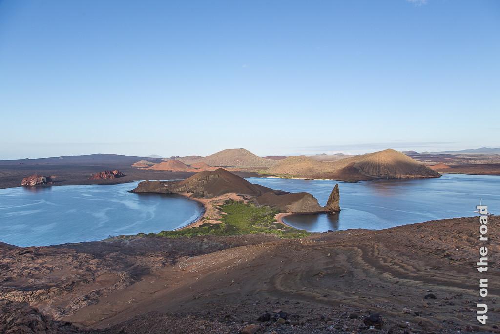 Die berühmte Zwillingsbucht auf der Insel Bartolomé - Galápagos Inseln