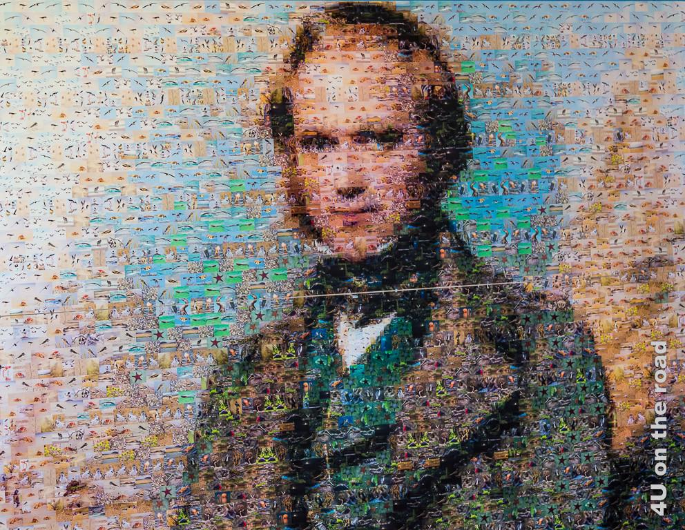 Darwin Plakat im Darwin Forschungszentrum auf Santa Cruz, Galápagos Inseln