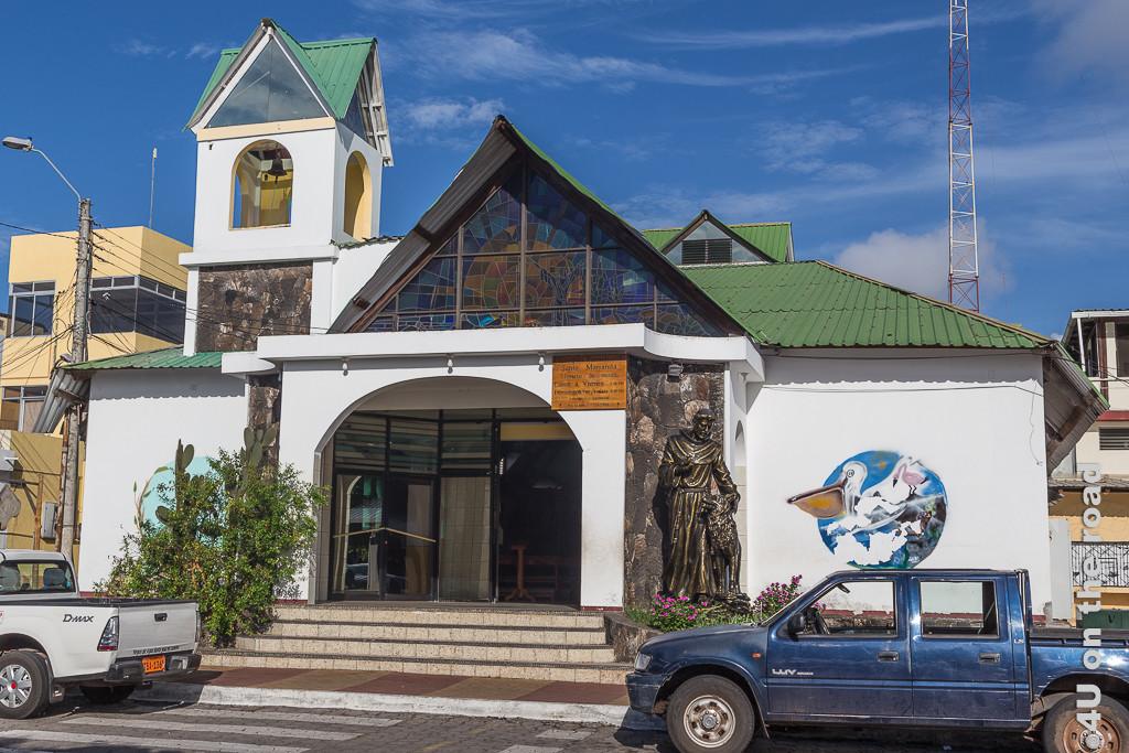 Kirche auf Santa Cruz - Illustration Inselhüpfen Galápagos