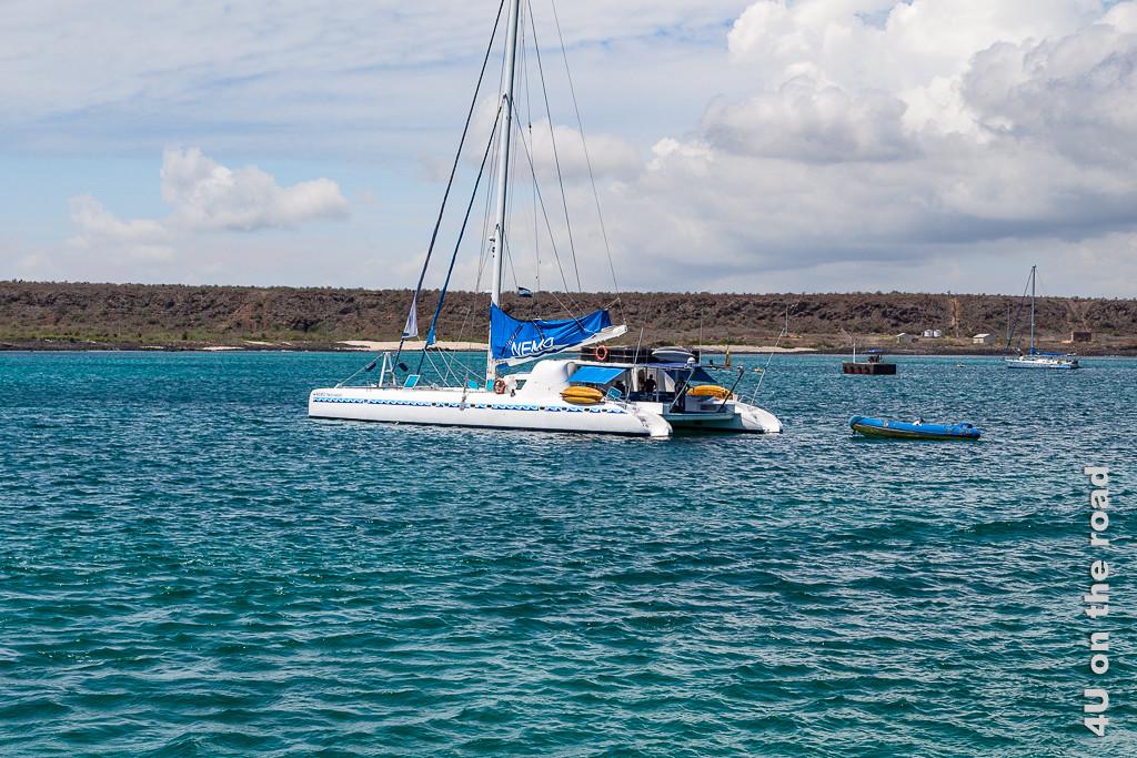 Nemo I im Hafen von Baltra - Kreuzfahrt Galápagos