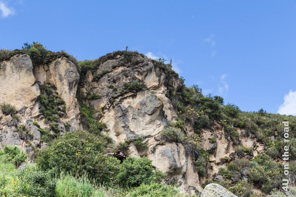 Inkagesicht in der Felswand
