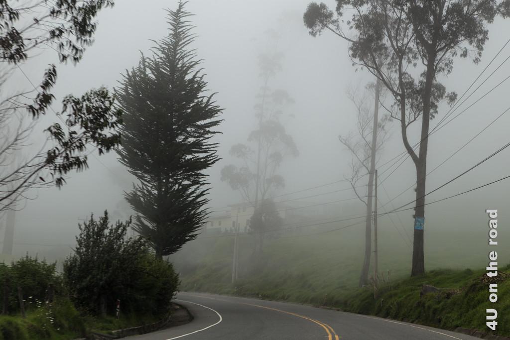 Fahrt in den Wolken