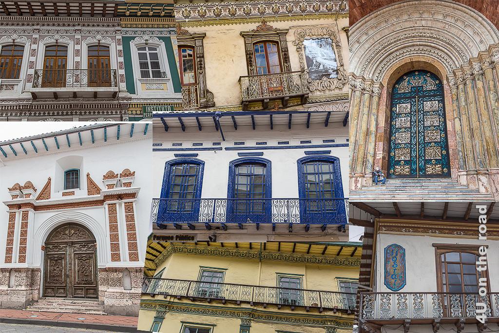 Fassaden und Tore in Cuenca