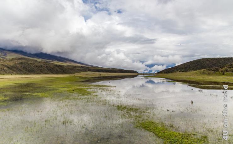 Feature Bild Überschwemmung um Hochtal bei der Laguna Limpiopungo