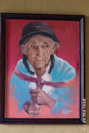 Gemälde einer alten Cañari Frau