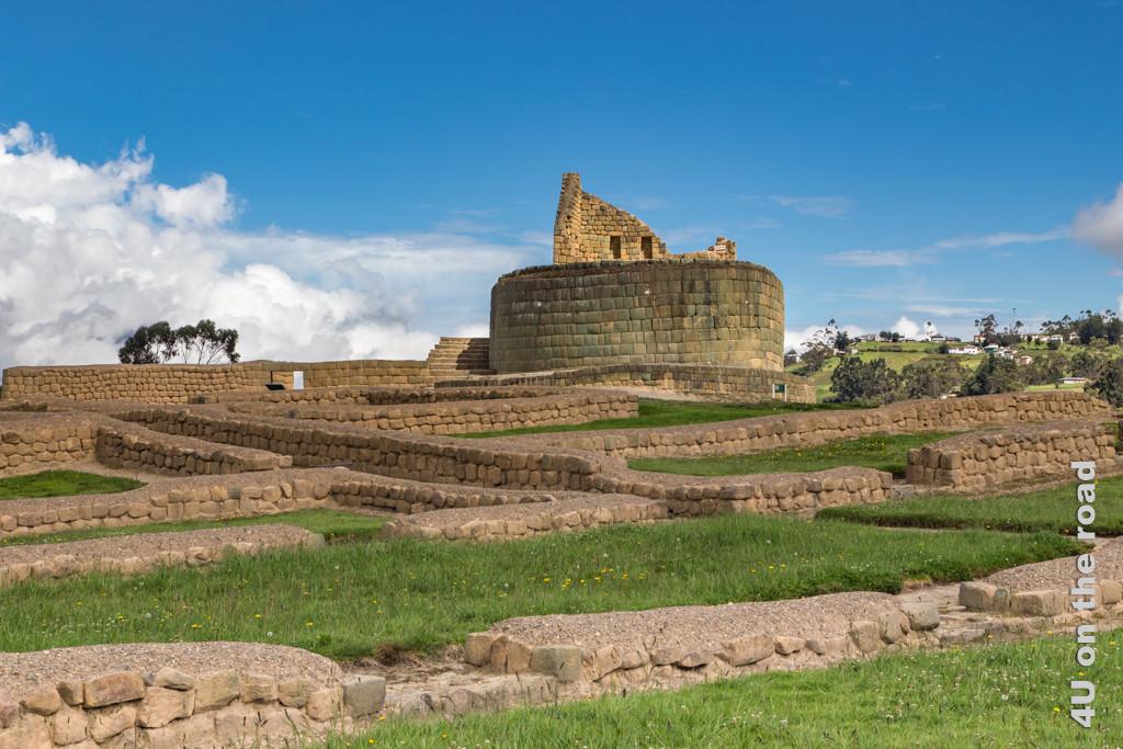 Der Sonnentempel dominiert die Anlage der Ruinen von Ingapirca