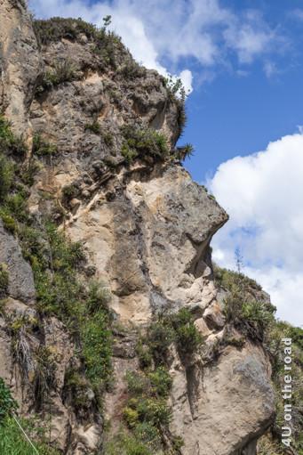 Profil des felsigen Inkagesichts