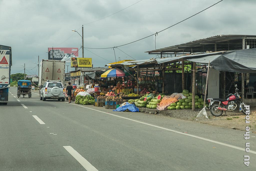 Obstände entlang des Weges von Guayaquil nach Cuenca