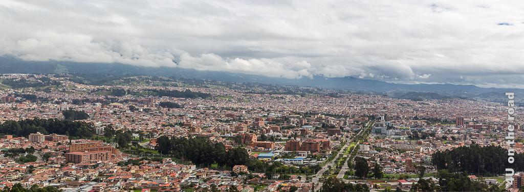 Panorama von Cuenca vom Mirador de Turi aufgenommen