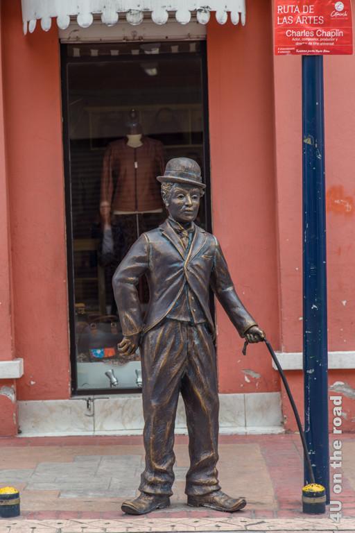 Bronze Charles Chaplin in Cotacachi