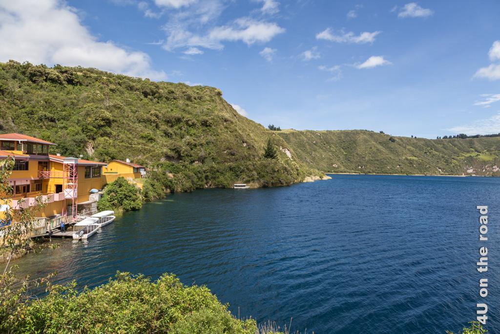 Hotel und Startpunkt der Bootstouren bei der Laguna de Cuicocha