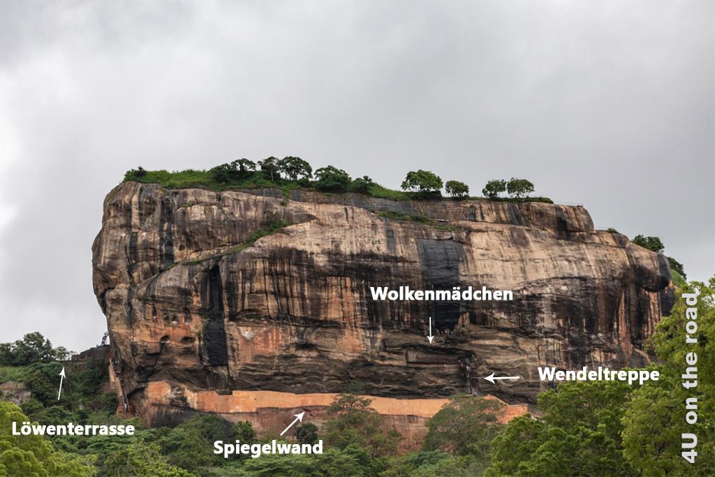 Felsenfestung Sigiriya - Orientierungsbild
