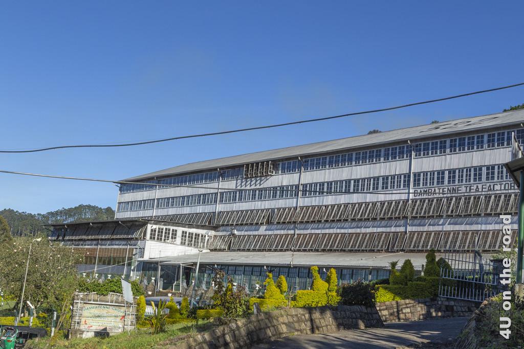 Das Gebäude der Dambetenne Tea Factory - auch hier kann man alles über die Herstellung des Tees lernen.