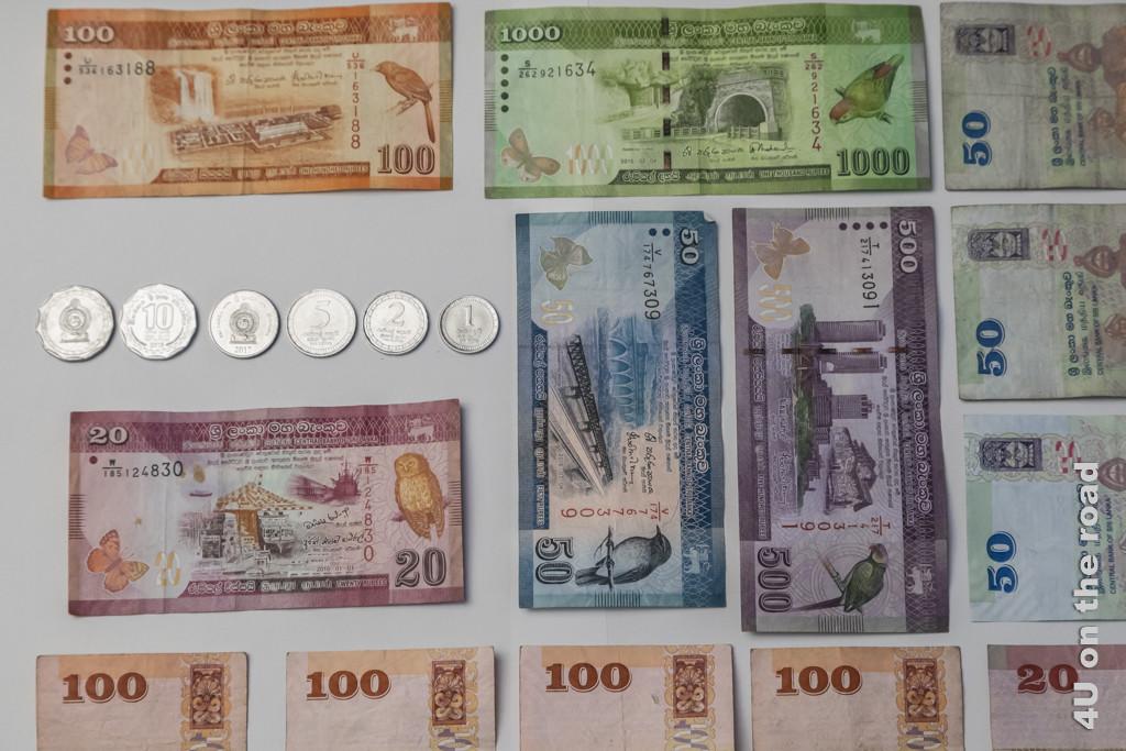 Zahlungsmittel Nummer 1 - Bargeld Sri Lanka