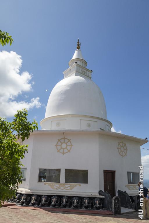 Dagoba im Wedahiti Kanda Tempel in Kataragama