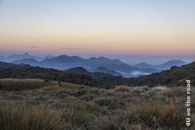 Aussicht von den Horton Plains am frühen Morgen