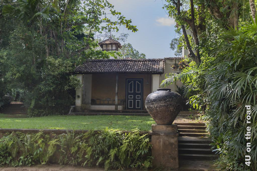 Rückseite des Wohnhauses von Geoffrey Bawa - Lunuganga