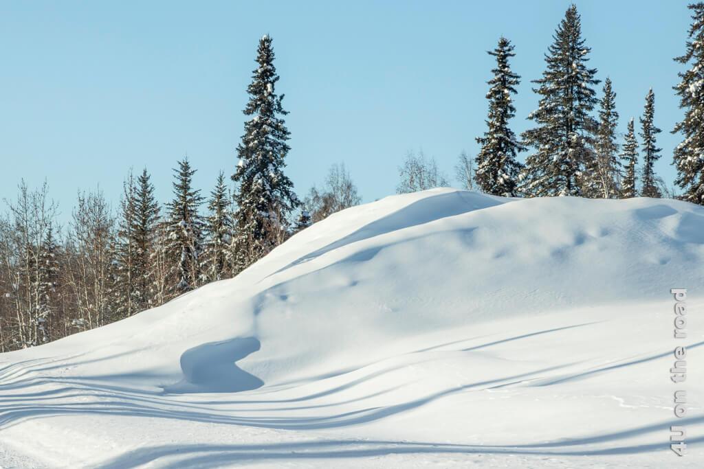 Schneewehe wie eine Düne