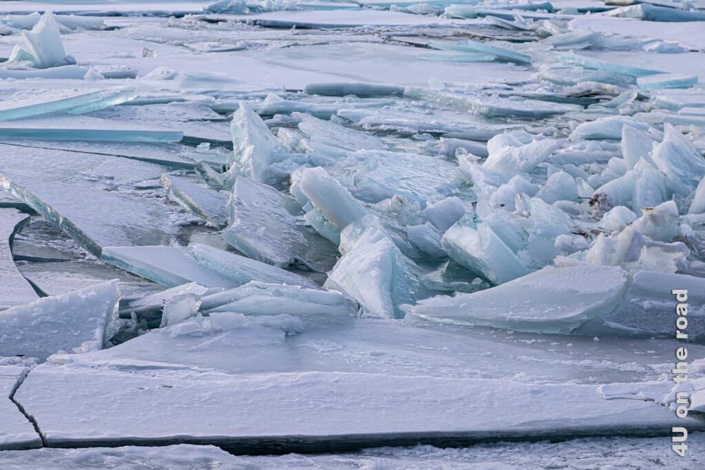 Kollision der gebrochenen Eisschollen - Millennium Trail Whitehorse