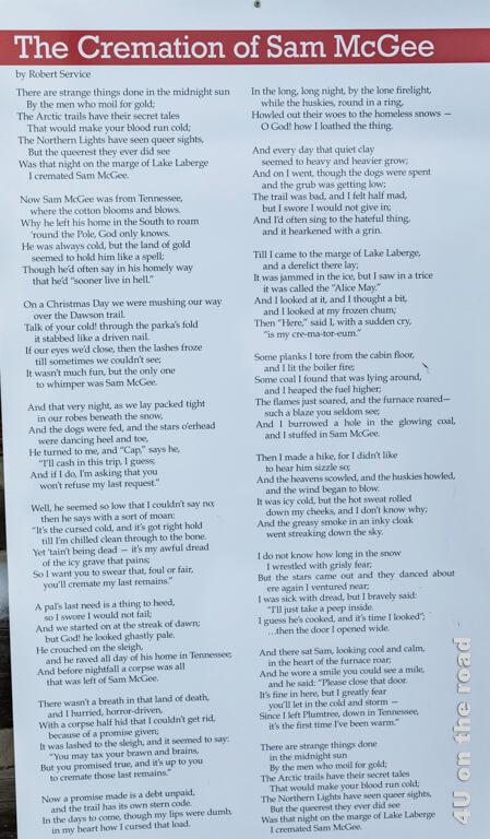 """Text der Ballade """"The Cremation of Sam McGee"""" von Robert Service"""