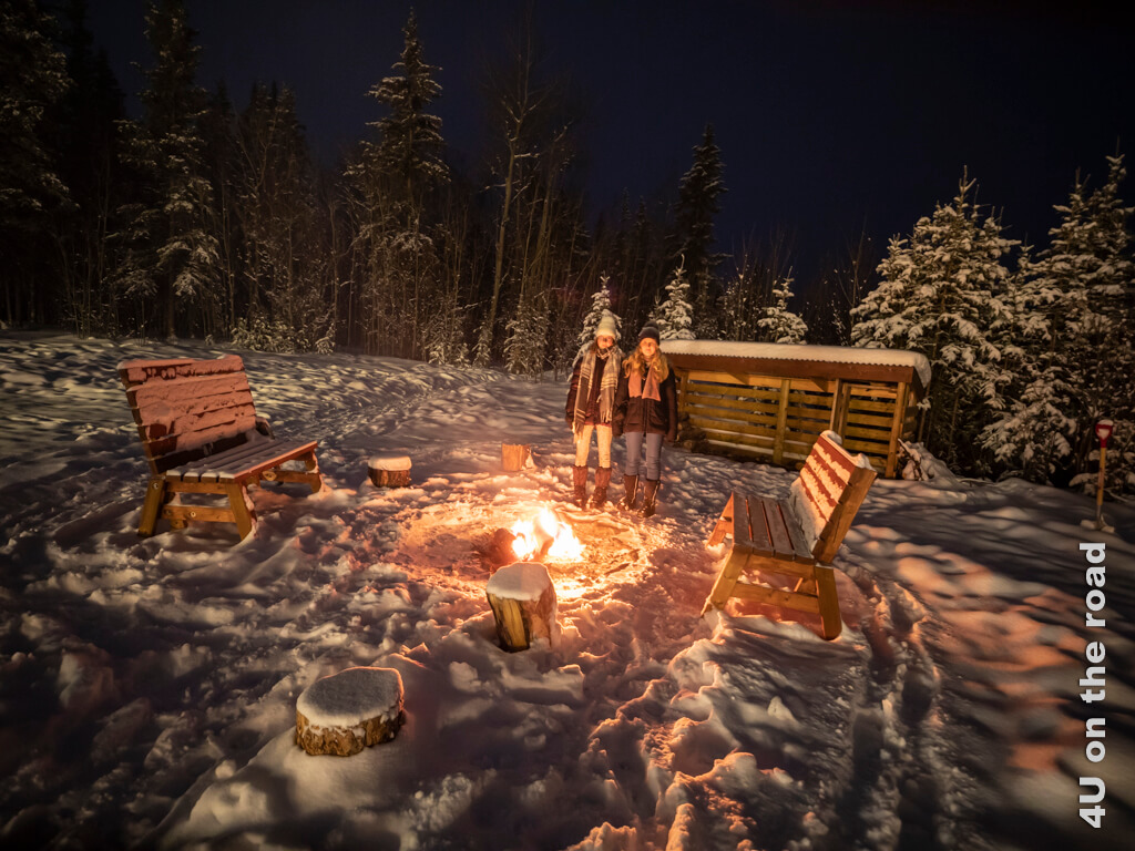 Lagerfeuer im Schnee - Boreale Ranch