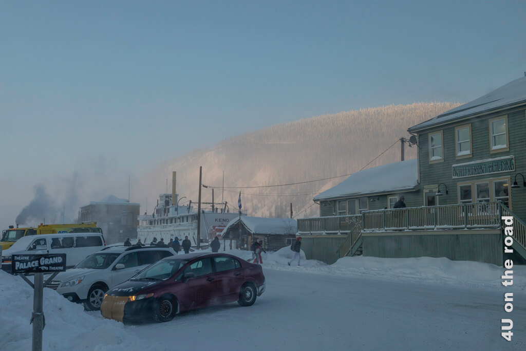 Dawson City morgens bei minus 41 Grad Celsius.