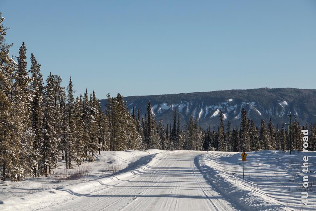 Die Strasse nach Tagish im Winter