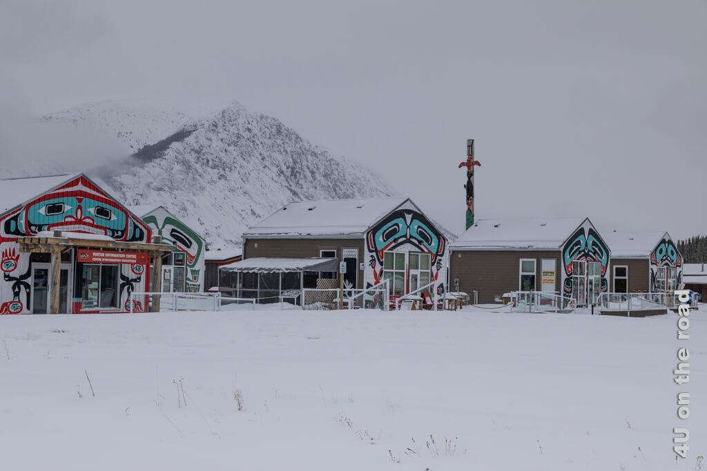 Visitor Information Center in Carcross hat genauso wie das ganze Bennett Retail Village geschlossen