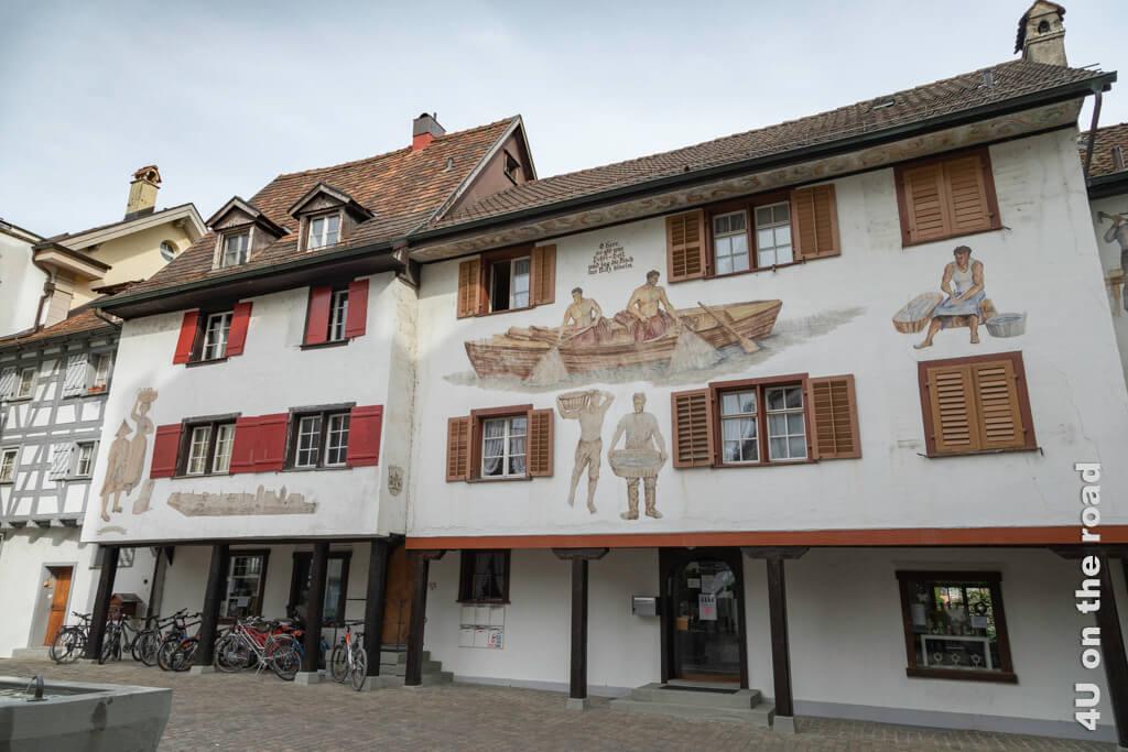 Bemalte Hausfassade in Arbon