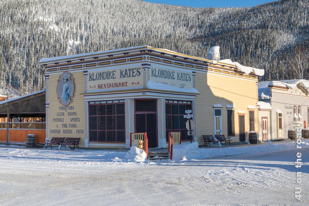 Restaurant in einem authentischen Gebäude aus der Goldgräberzeit - Dawson City