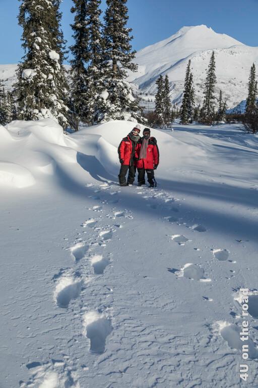 Spuren im unberüherten Schnee hinterlassen macht Spass - Tombstone Territorial Park