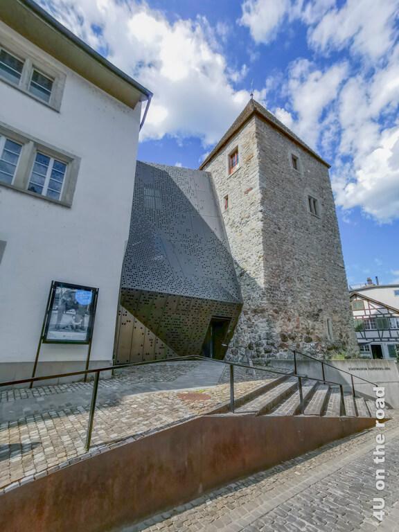 Stadtmuseum Rapperswil mit dem modernen Janus Zwischenbau
