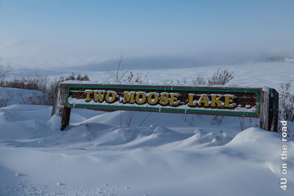 Als wir den Two Moose Lake erreichen, sehen wir leider nicht mehr viel von der Landschaft - Tombstone Territorial Park