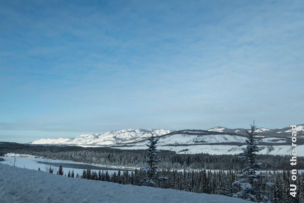 Erstaunlich, dass der Fluss hier nicht gefroren ist. Von Dawson City nach Whitehorse