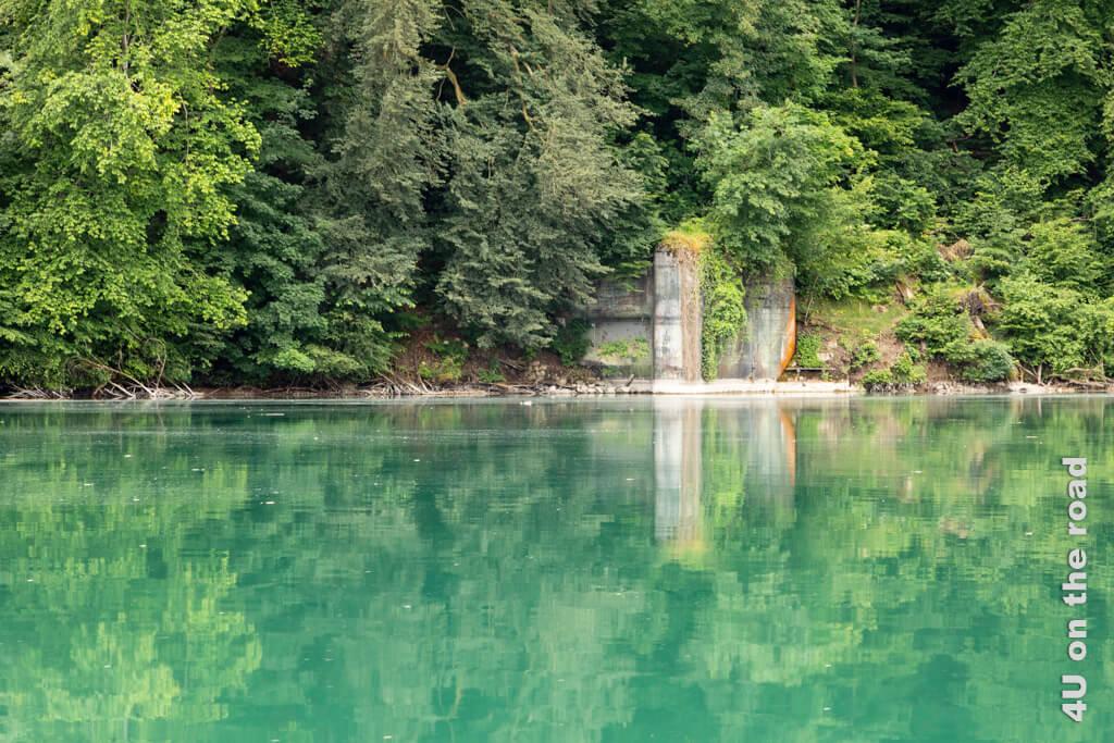 Bunker auf der Schweizer Seite des Rheins